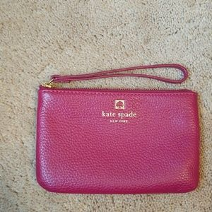 Kate Spade Authentic Pebble Leather Small Wristlet